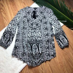 Lucky Brand Boho Print Shirt